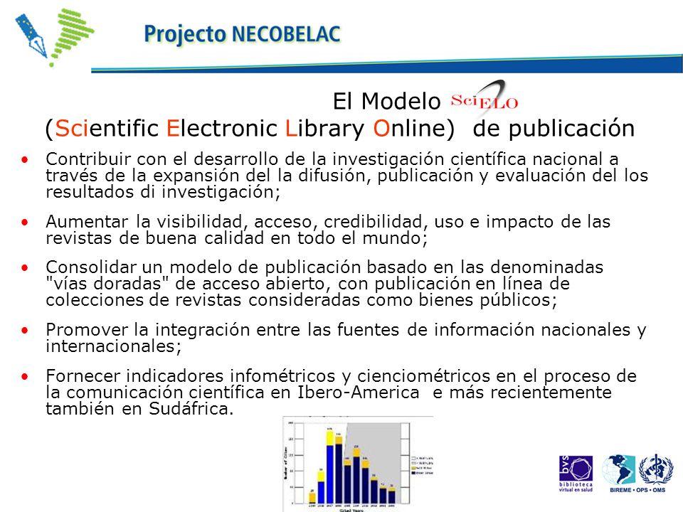 El Modelo (Scientific Electronic Library Online) de publicación Contribuir con el desarrollo de la investigación científica nacional a través de la ex