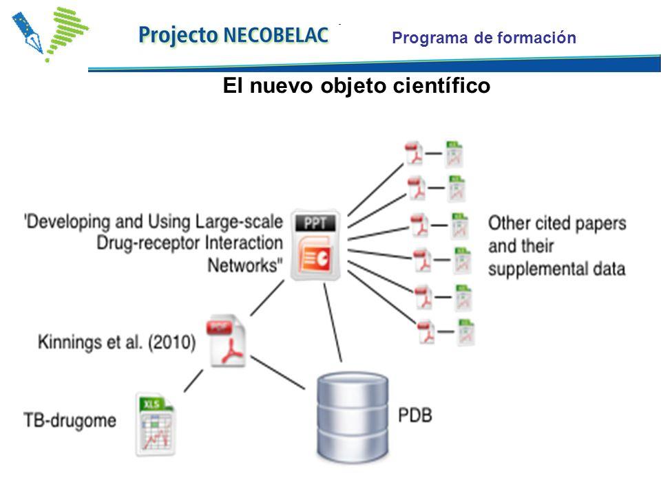 Programa de formación El nuevo objeto científico