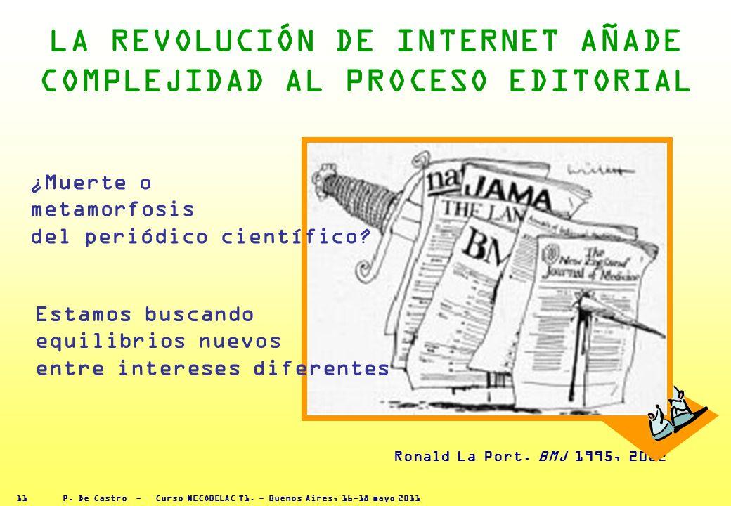 P. De Castro - Curso NECOBELAC T1. - Buenos Aires, 16-18 mayo 2011 10 LA TECNOLOG ĺ A MODIFICA ALGUNAS FASES DEL PROCESO EDITORIAL 3 CREAR UN PRODUCTO