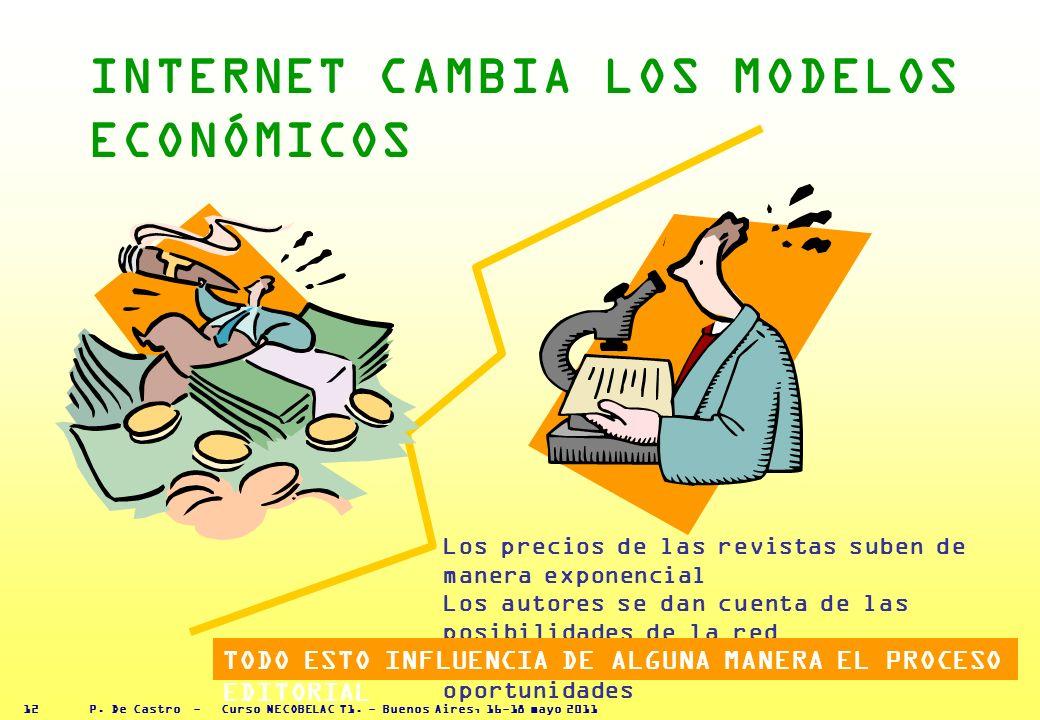 P. De Castro - Curso NECOBELAC T1. - Buenos Aires, 16-18 mayo 2011 11 LA REVOLUCIÓN DE INTERNET AÑADE COMPLEJIDAD AL PROCESO EDITORIAL Ronald La Port.