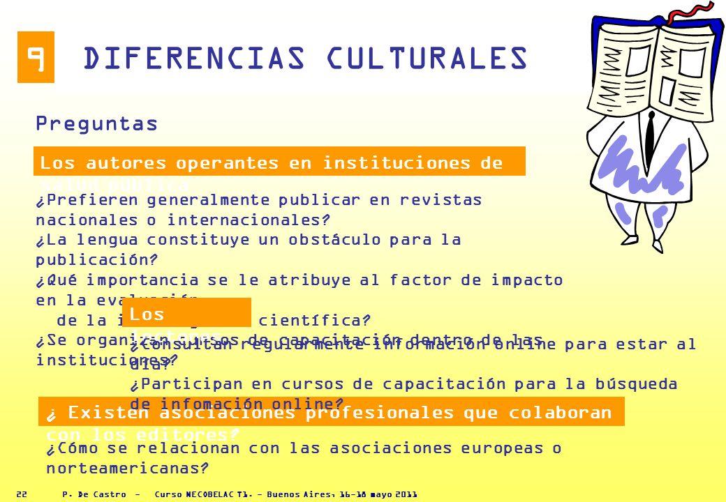 P. De Castro - Curso NECOBELAC T1. - Buenos Aires, 16-18 mayo 2011 21 8 El proceso de revisión ocupa la mayor parte del tiempo y los esfuerzos del sec
