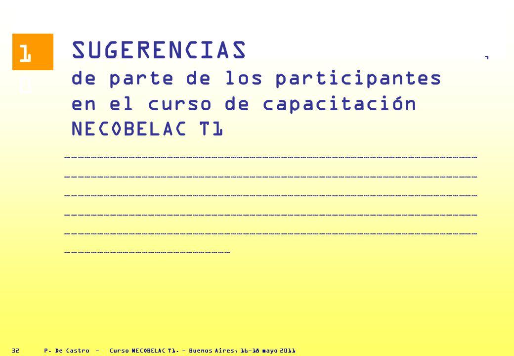 P. De Castro - Curso NECOBELAC T1. - Buenos Aires, 16-18 mayo 2011 31 RESUMEN DE LOS ASUNTOS PRINCIPALES del Módulo, El proceso editorial es un proces