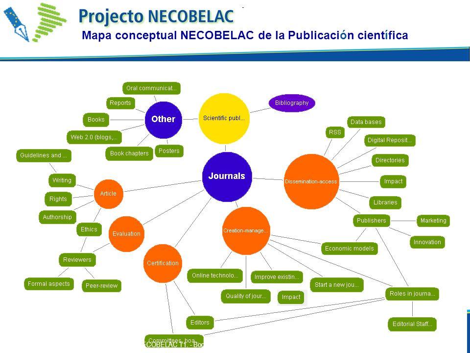 Mapa conceptual NECOBELAC de la Publicación científica 44 P. De Castro - Curso NECOBELAC T1. - Bogotà, 9-11 de Noviembre de 2010