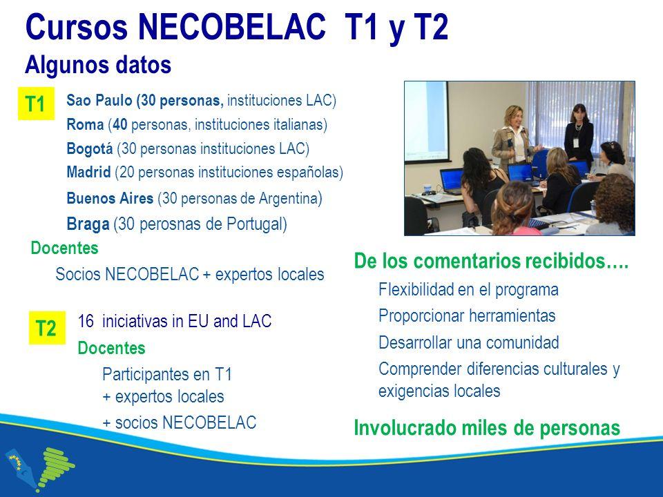 Cursos NECOBELAC T1 y T2 Algunos datos De los comentarios recibidos….