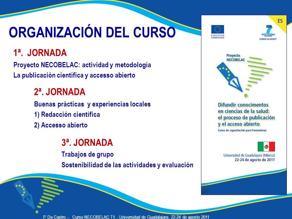 ORGANIZACIÓN DEL CURSO 3ª.
