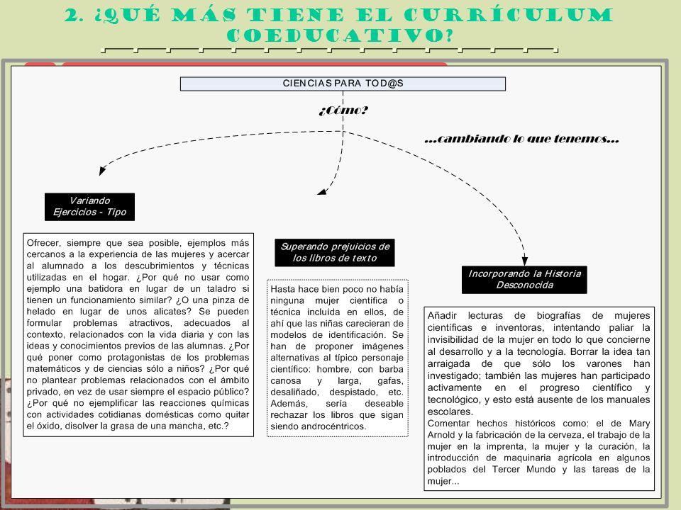 2. ¿qué más tiene el currículum coeducativo? ALEJANDO LAS CIENCIAS DEL ANDROCENTRISMO 2 2