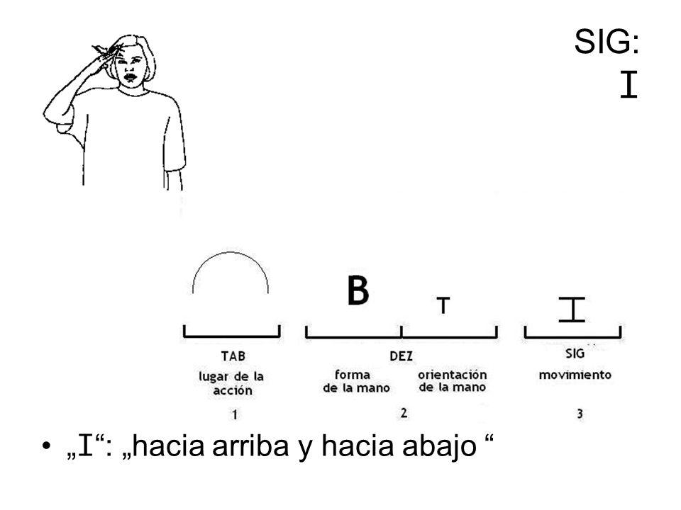 SIG: I I : hacia arriba y hacia abajo
