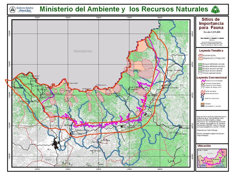 Cordillera Dipilto- Jalapa La Reserva Cordillera Dipilto – Jalapa, se ubica en la zona central norte de Nicaragua y dentro de la cuenca binacional del Río Coco y las Subcuencas Río Coco-Ocotal y Río Jícaro.