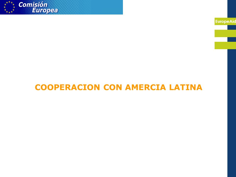EuropeAid COOPERACION CON AMERCIA LATINA