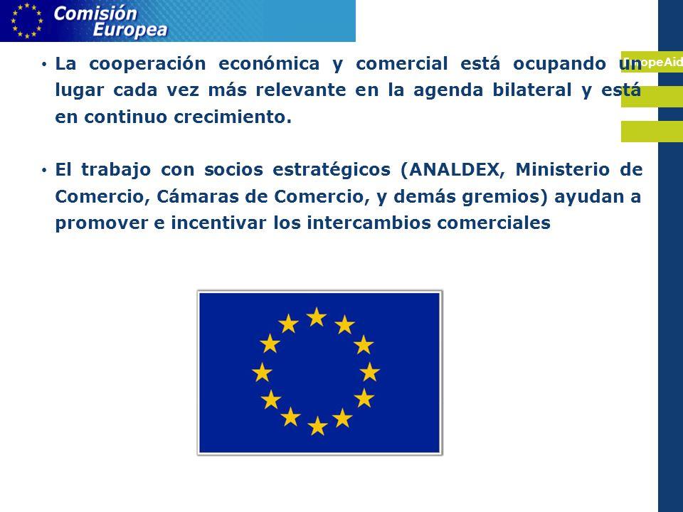 EuropeAid La cooperación económica y comercial está ocupando un lugar cada vez más relevante en la agenda bilateral y está en continuo crecimiento.