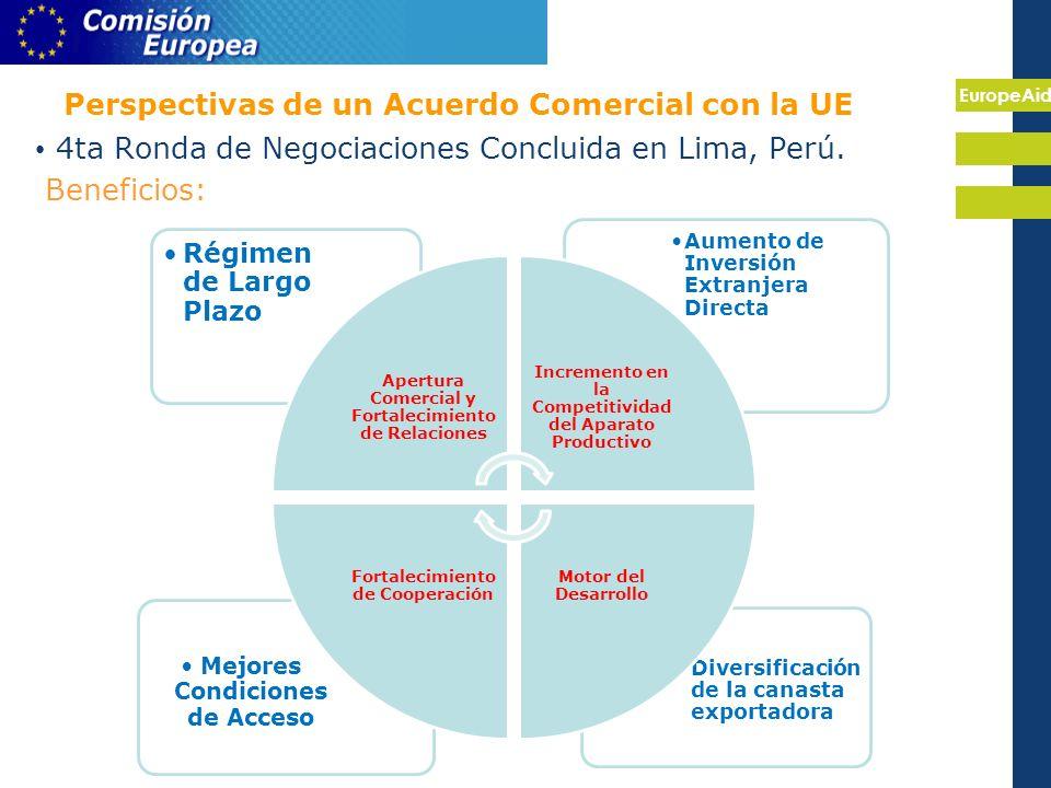 EuropeAid Perspectivas de un Acuerdo Comercial con la UE 4ta Ronda de Negociaciones Concluida en Lima, Perú.