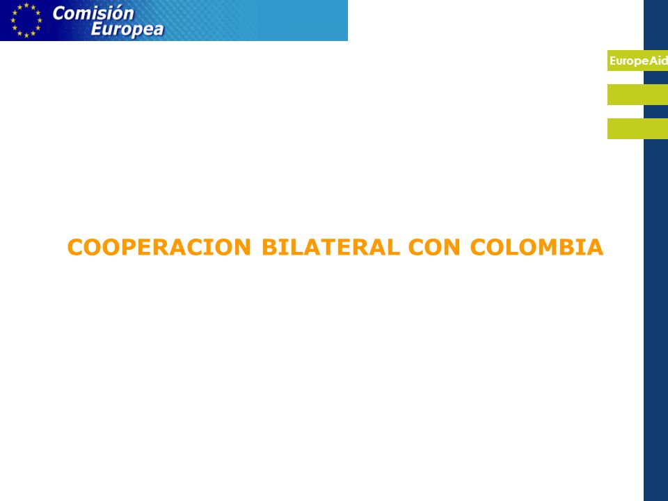 EuropeAid COOPERACION BILATERAL CON COLOMBIA