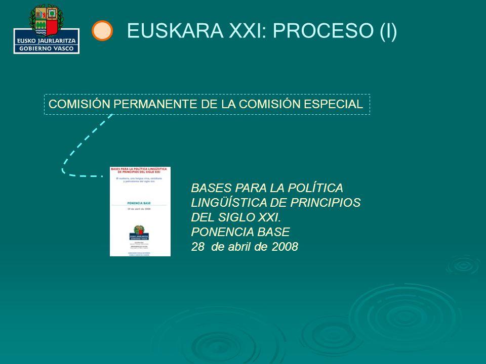 EUSKARA XXI: PROCESO (II) MIEMBROS DE LA COMISIÓN ESPECIAL EUSKARA XXI.
