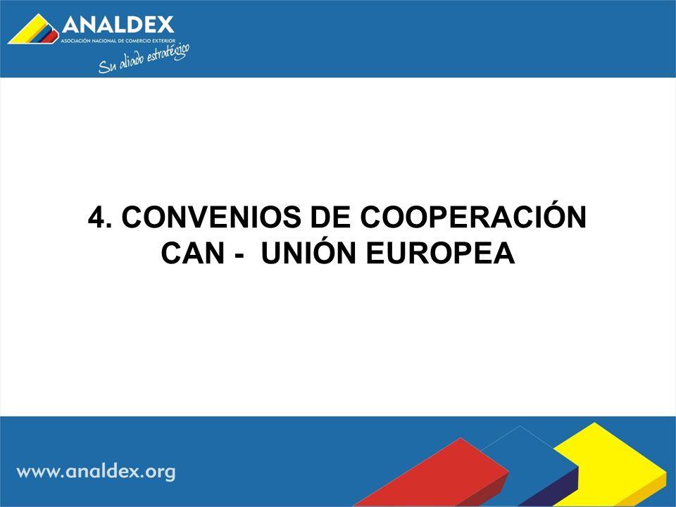 4. CONVENIOS DE COOPERACIÓN CAN - UNIÓN EUROPEA