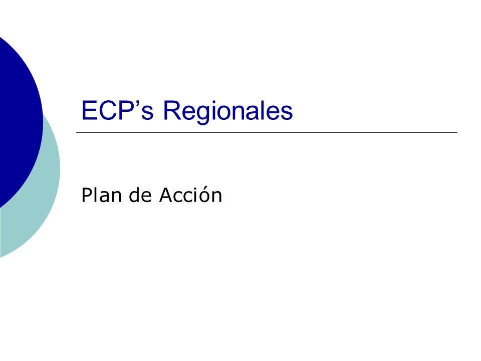 ECPs Regionales Plan de Acción