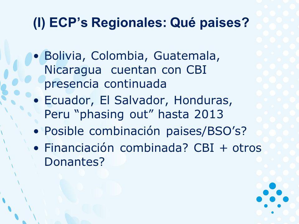 (I) ECPs Regionales: Qué paises.
