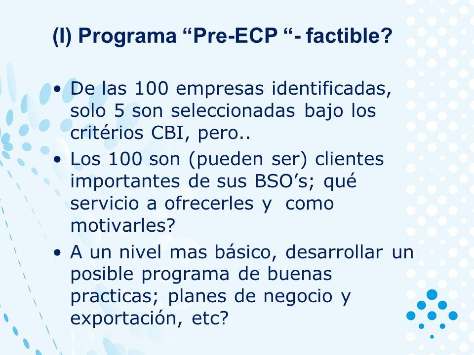 (I) Programa Pre-ECP - factible.