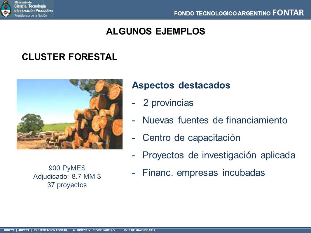 FONDO TECNOLOGICO ARGENTINO FONTAR MINCYT | ANPCYT | PRESENTACION FONTAR I AL INVEST IV RIO DE JANEIRO i 18/19 DE MAYO DE 2011 Aspectos destacados - 2
