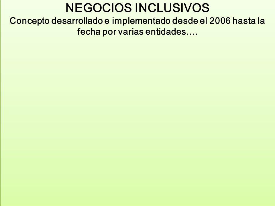 UN EJEMPLO DE POLITICAS PUBLICAS PARA LOS NEGOCIOS INCLUSIVOS EN EL ECUADOR: I