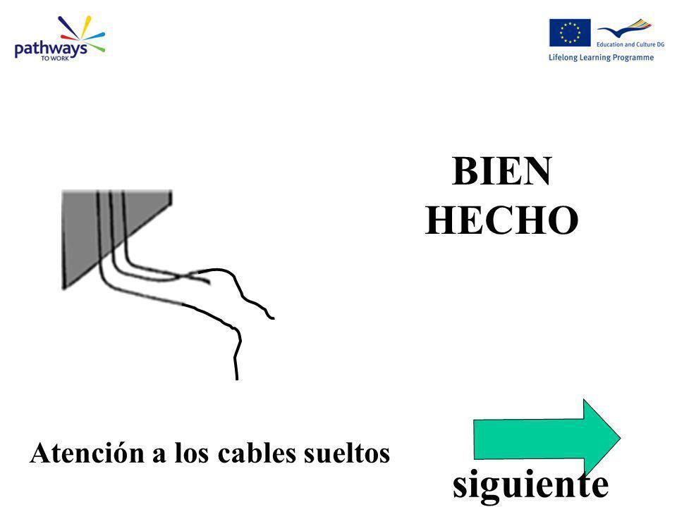 Correct Qu11 BIEN HECHO Atención a los cables sueltos siguiente