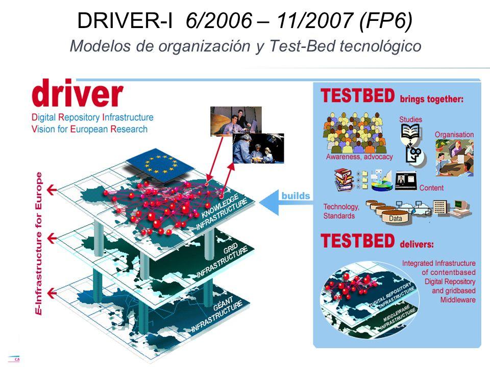 Modelos de organización y Test-Bed tecnológico 18 DRIVER-I 6/2006 – 11/2007 (FP6)