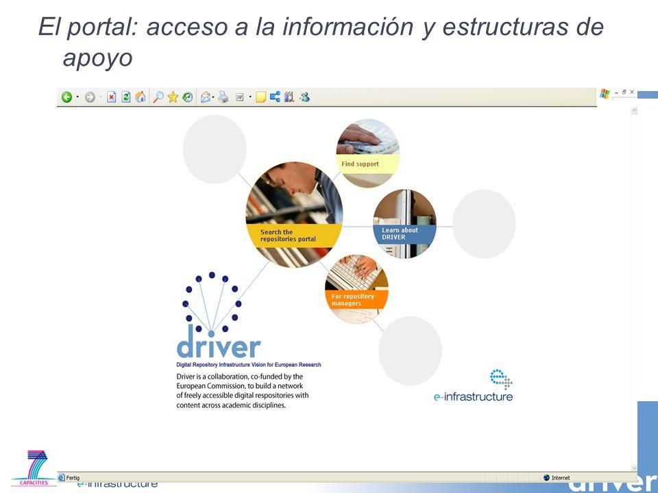 El portal: acceso a la información y estructuras de apoyo