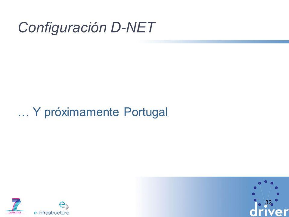 Configuración D-NET … Y próximamente Portugal 32