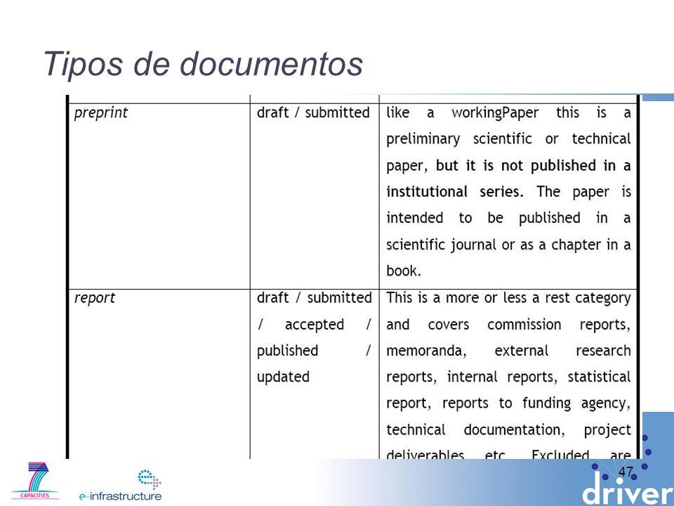 Tipos de documentos 47