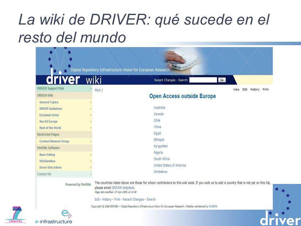 La wiki de DRIVER: qué sucede en el resto del mundo