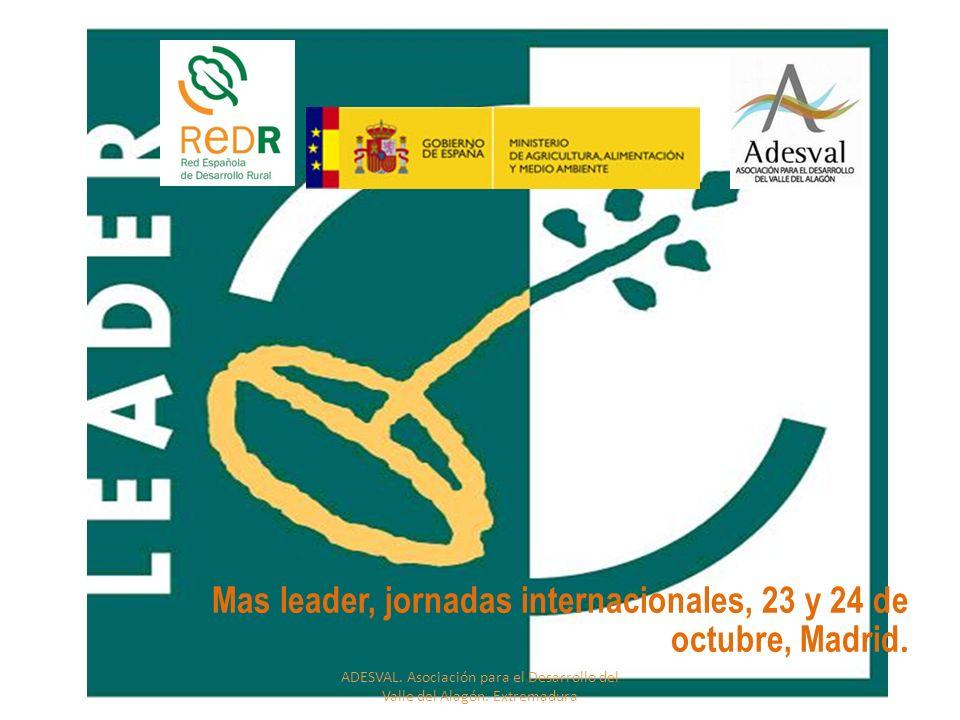 Mas leader, jornadas internacionales, 23 y 24 de octubre, Madrid.