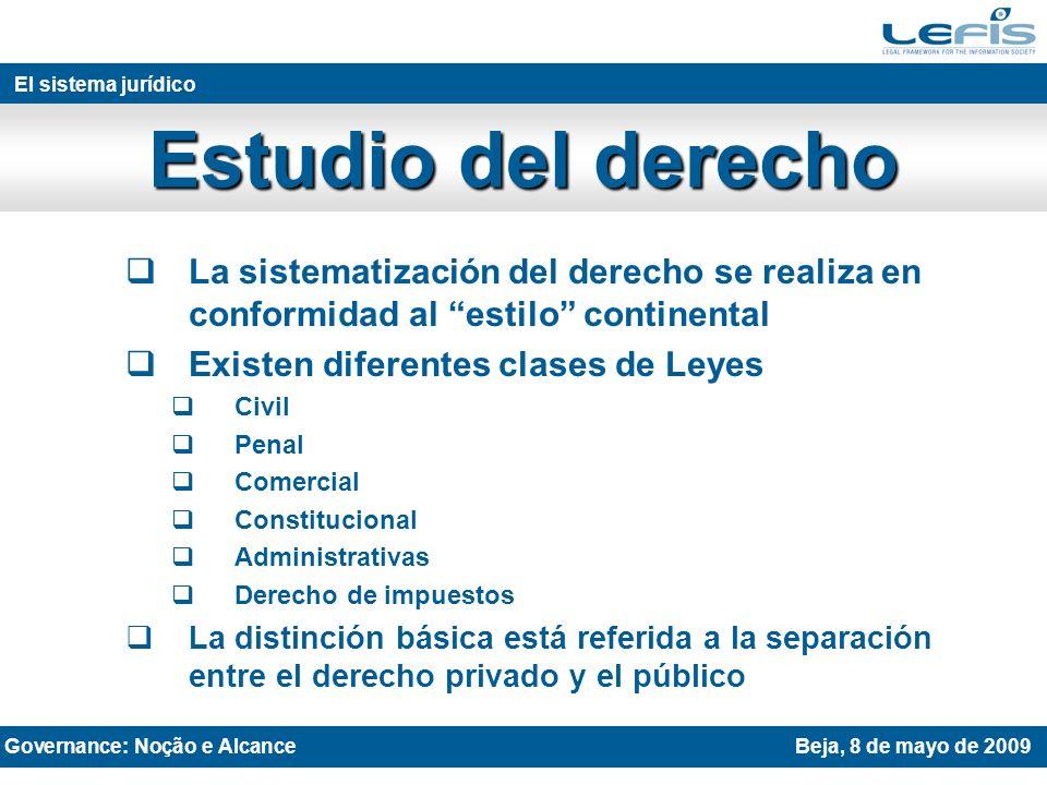 cfa@unizar.es CUESTIONES Governance: Noção e AlcanceBeja, 8 de mayo de 2009
