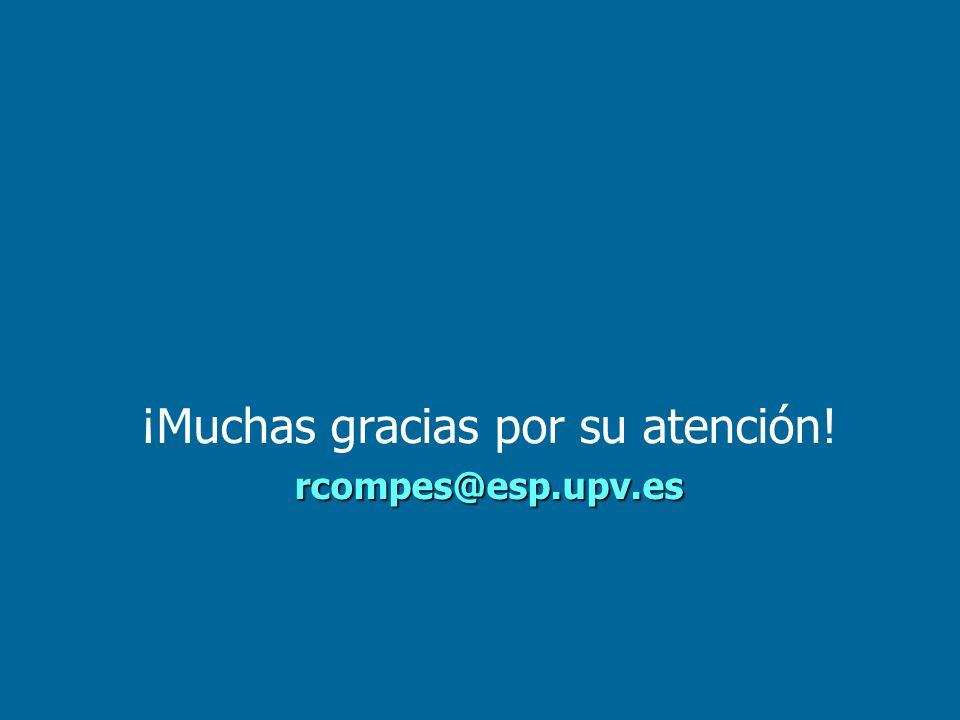 ¡Muchas gracias por su atención!rcompes@esp.upv.es