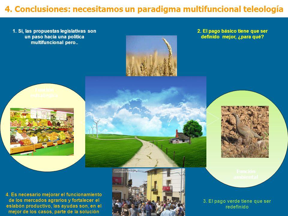 4. Conclusiones: necesitamos un paradigma multifuncional teleología Función ambiental Función estratégica 1. Si, las propuestas legislativas son un pa