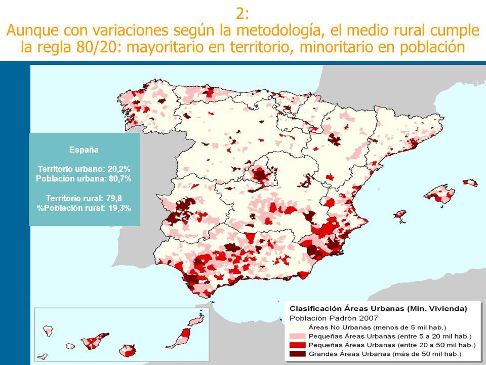 Steiner,el paisaje y Europa La OCDE suele utilizar 150 habitantes/km2 como línea divisoria entre rural y urbano 2: Aunque con variaciones según la met