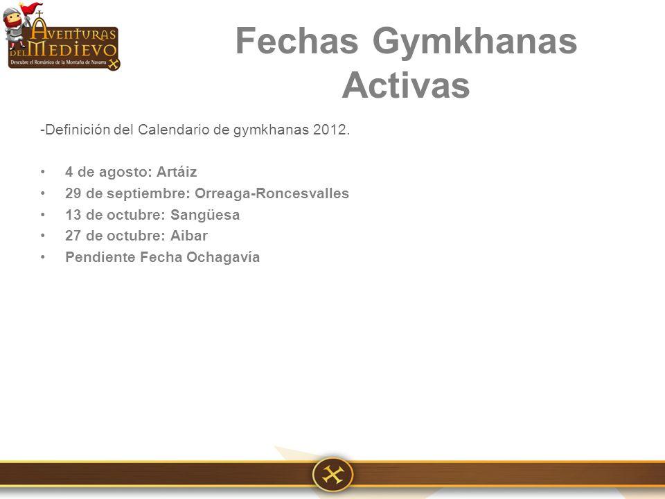 -Definición del Calendario de gymkhanas 2012.
