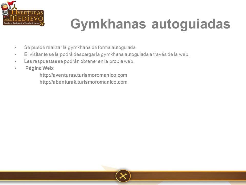 Se puede realizar la gymkhana de forma autoguiada.