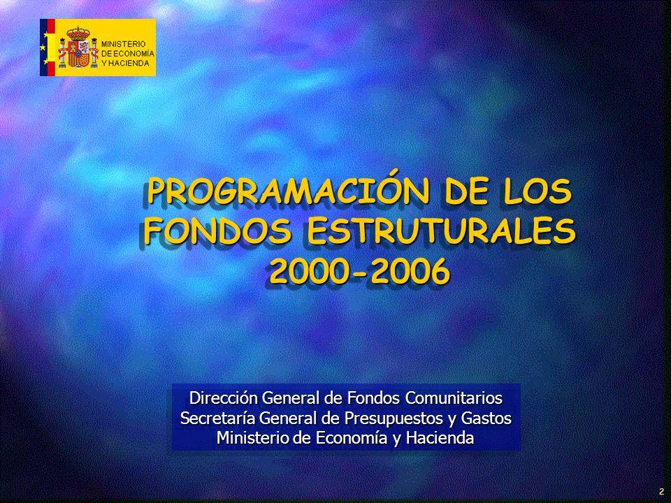 DIRECCIÓN GENERAL DE FONDOS COMUNITARIOS 3 MARCO COMUNITARIO DE APOYO (1) OBJETIVO Nº1 DISTRIBUCIÓN DE LA FINANCIACIÓN COMUNITARIA POR FONDOS Y EJES PRIORITARIOS EJE 1MEJORA DE LA COMPETITIVIDAD Y DESARROLLO DEL TEJIDO PRODUCTIVO EJE 2SOCIEDAD DEL CONOCIMIENTO (INNOVACIÓN I+D, SOC.