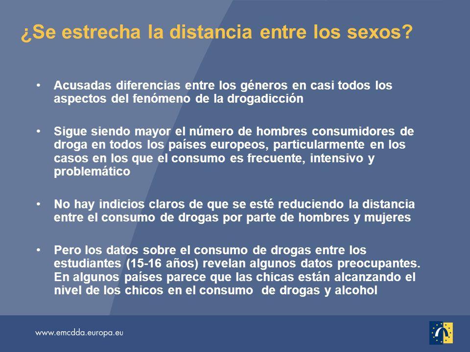 ¿Se estrecha la distancia entre los sexos? Acusadas diferencias entre los géneros en casi todos los aspectos del fenómeno de la drogadicción Sigue sie
