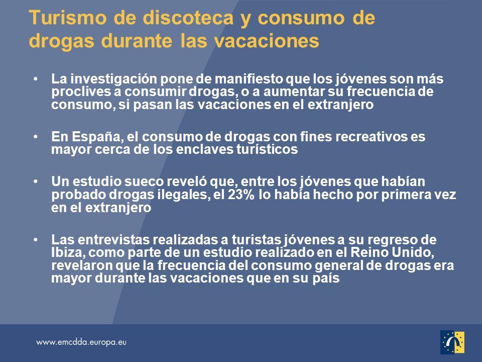 Turismo de discoteca y consumo de drogas durante las vacaciones La investigación pone de manifiesto que los jóvenes son más proclives a consumir droga