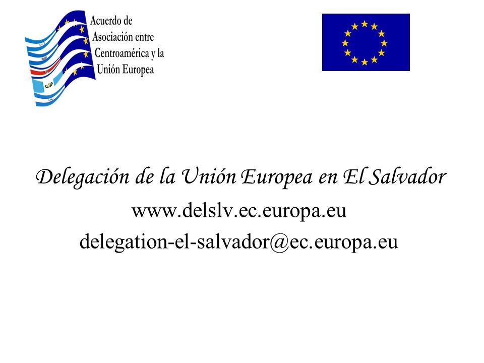 Delegación de la Unión Europea en El Salvador www.delslv.ec.europa.eu delegation-el-salvador@ec.europa.eu