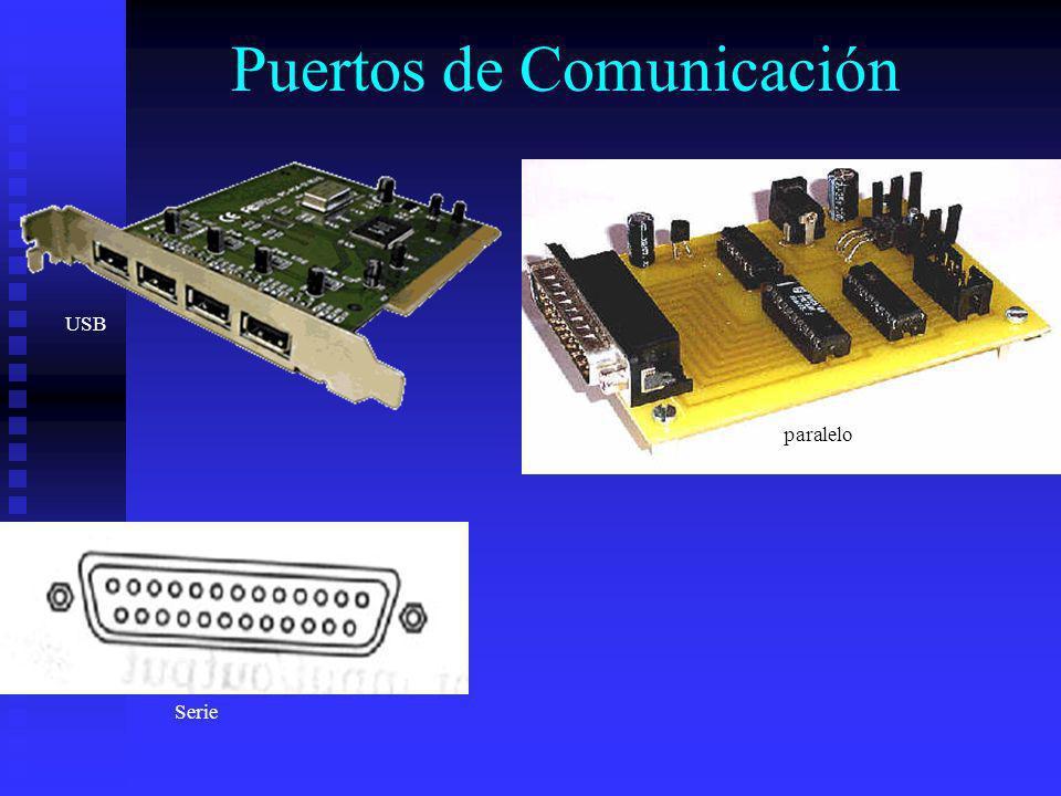 Puertos de Comunicación USB paralelo Serie