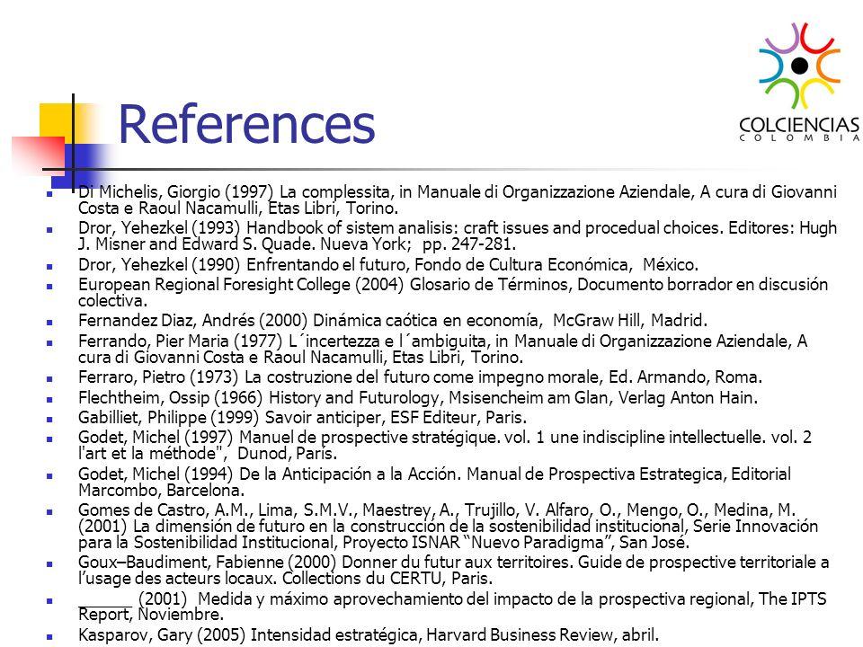 References Di Michelis, Giorgio (1997) La complessita, in Manuale di Organizzazione Aziendale, A cura di Giovanni Costa e Raoul Nacamulli, Etas Libri,