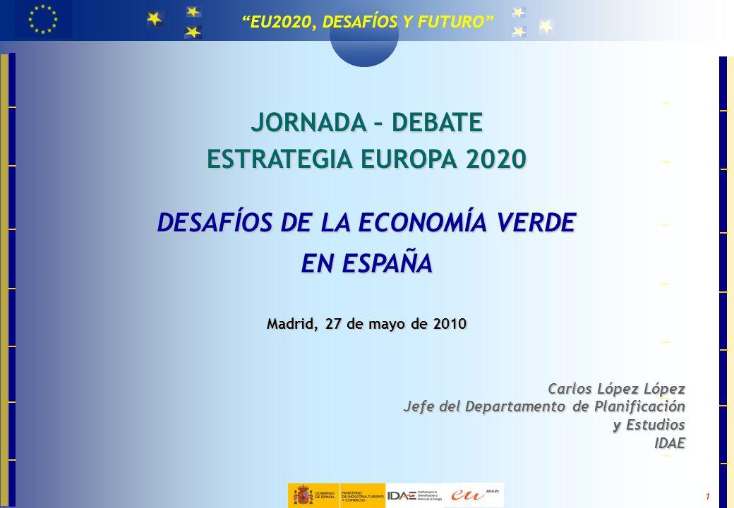 MASTER EN TECNOLOGÍAS PARA LA EFICIENCIA Y EL CAMBIO CLIMÁTICO 1 EU2020, DESAFÍOS Y FUTURO JORNADA – DEBATE ESTRATEGIA EUROPA 2020 DESAFÍOS DE LA ECON