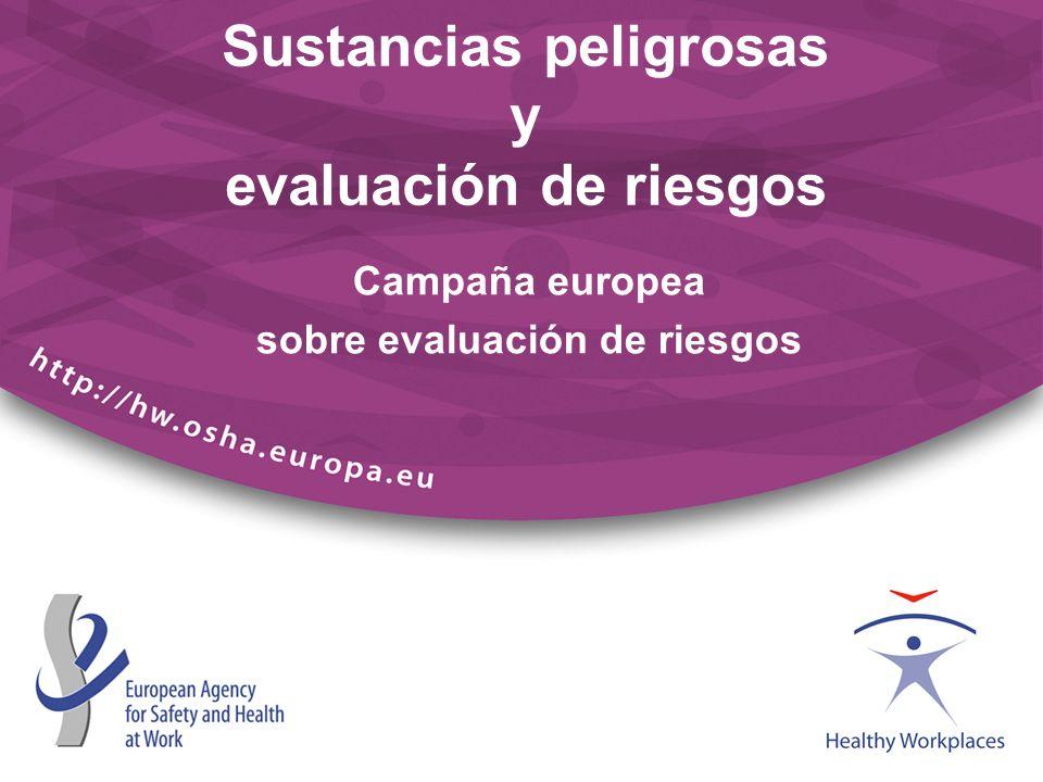 Sustancias peligrosas y evaluación de riesgos Campaña europea sobre evaluación de riesgos