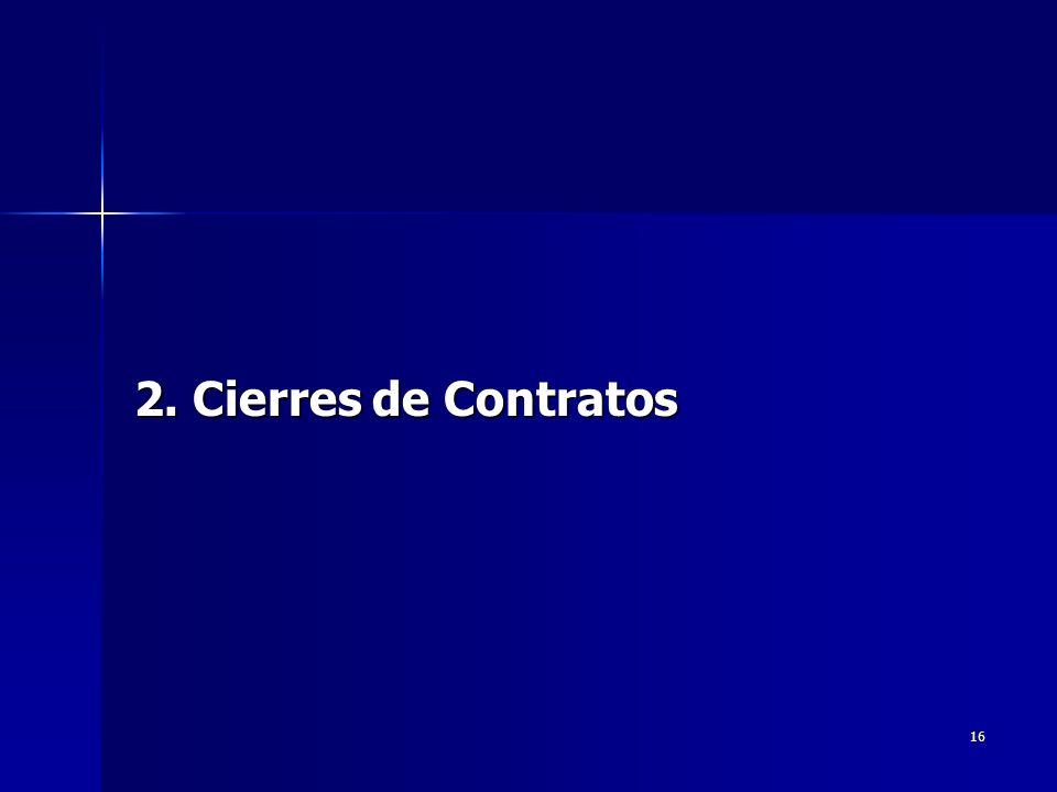 16 2. Cierres de Contratos