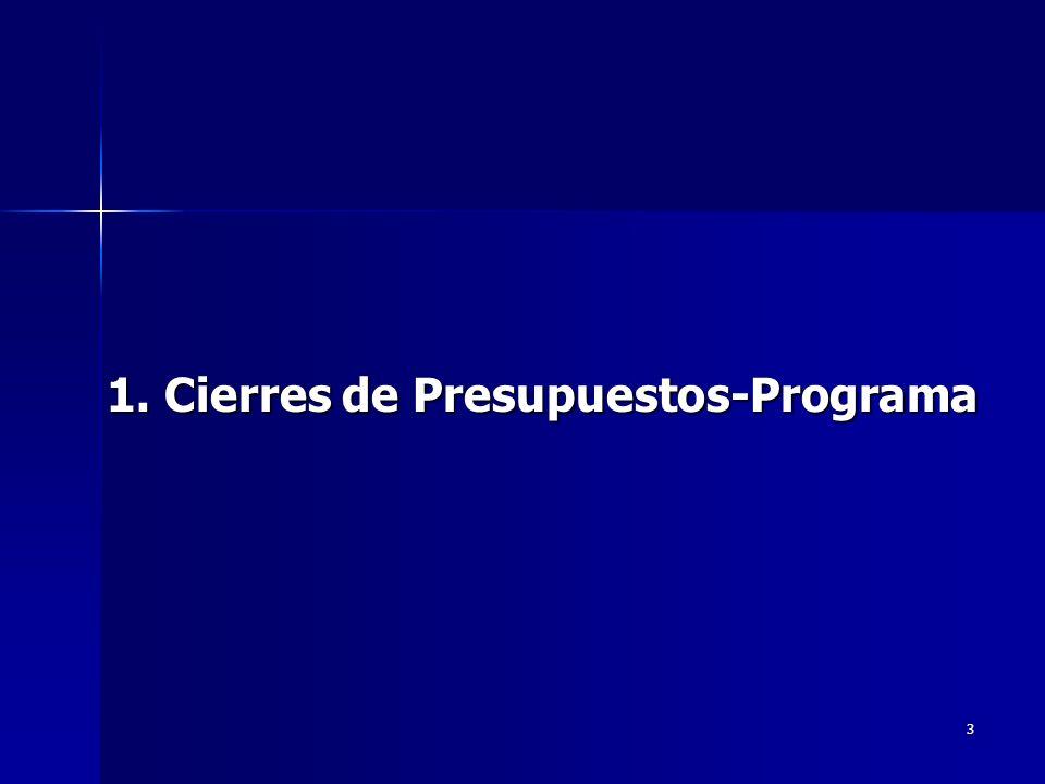 3 1. Cierres de Presupuestos-Programa