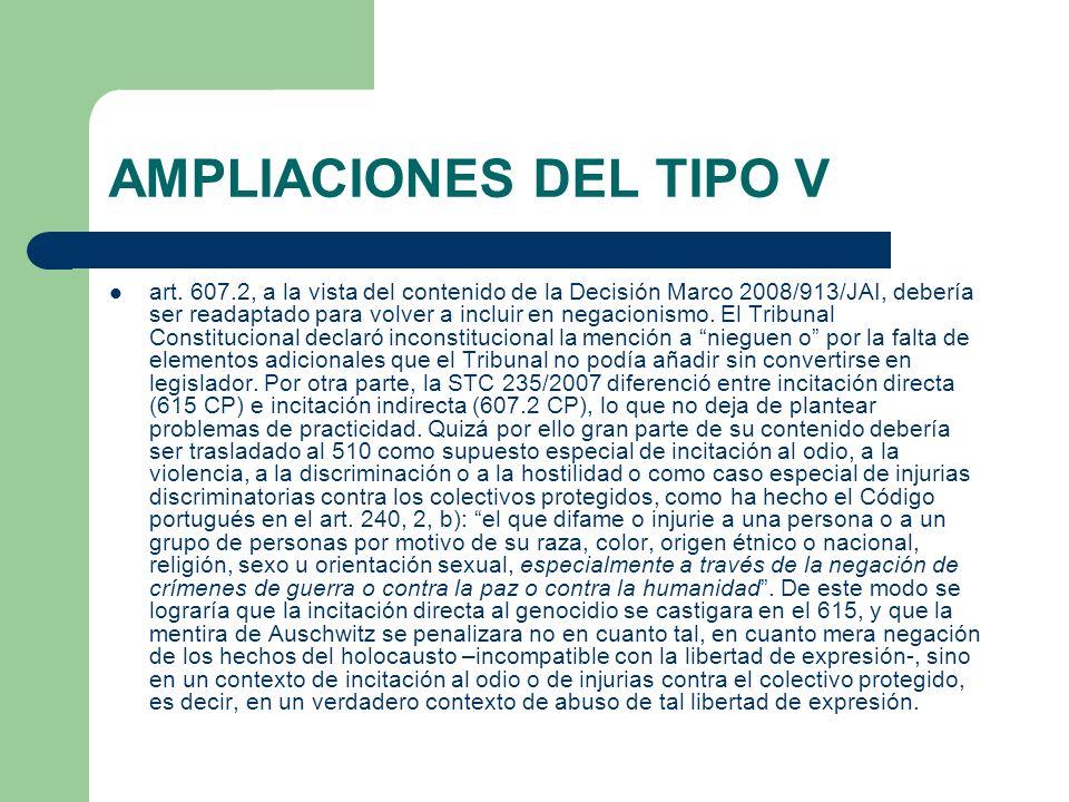 AMPLIACIONES DEL TIPO V art.