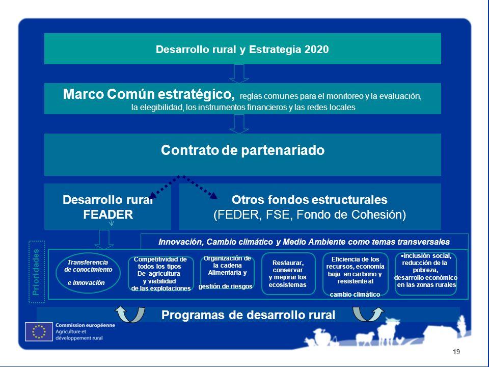 19 Marco Común estratégico, reglas comunes para el monitoreo y la evaluación, la elegibilidad, los instrumentos financieros y las redes locales Contra