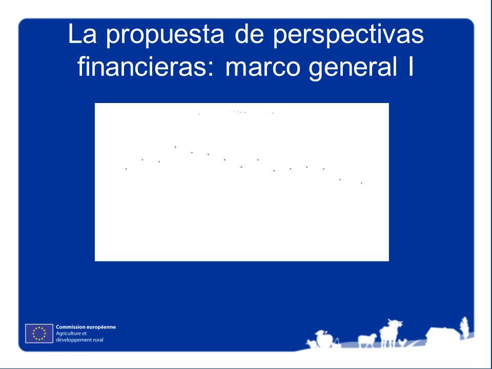 La propuesta de perspectivas financieras: marco general I