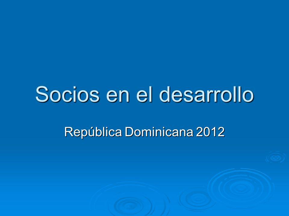 Socios en el desarrollo República Dominicana 2012